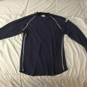 Men's Navy Blue Under Armour Long Sleeve Shirt
